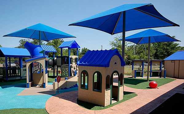 Square Playground Umbrellas