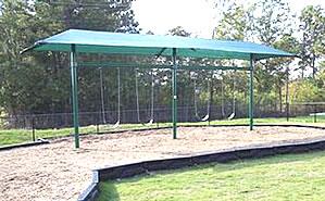 shaded swingsets