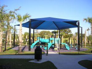 hexagon playground shade
