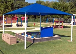 square and rectangle shade structure