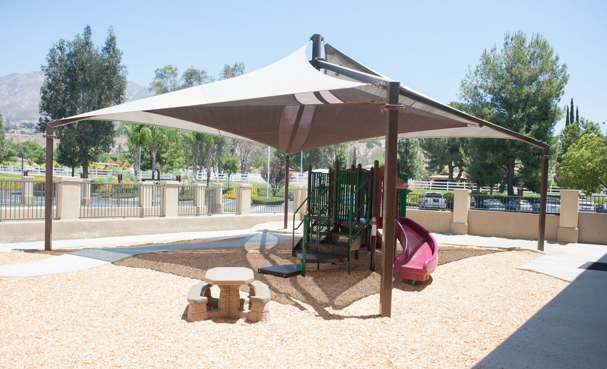Playground sail shades for Sun shade structure