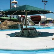 hexagon umbrella shade for the playground