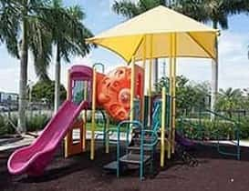 a mini canopy shade for a playground