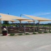 a sail shade for a playground