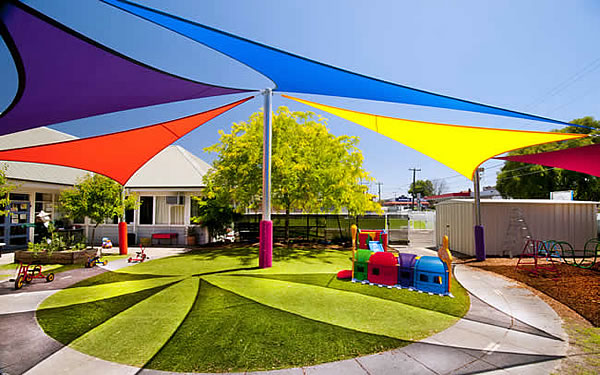 Multi-Colored Sail Shades