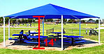 14 foot hexagon playground shades