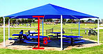 8 foot hexagon playground shades